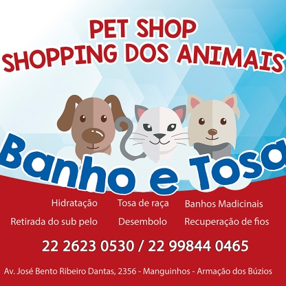 lona quadrada pet shop